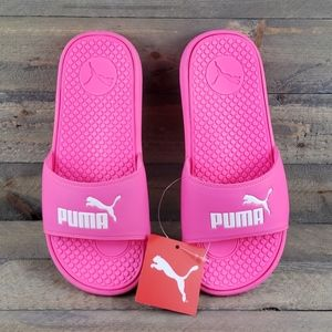 PUMA Cool Cat Slides Sandals Knockout Pink White